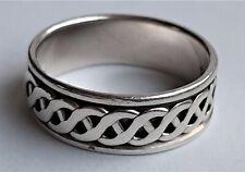 Vintage Mens Spinner Celtic Ring 925 Sterling Silver biker gothic, Size X,