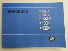 BMW r60/7 r75/7 r100/7 r100s r100rs carnet manuel notice d'instructions