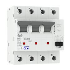 SEZ RCBO FI/LS C32A 30mA 10kA 4p Leitungsschutzschalter Fi-Schalter KOMBI 1503