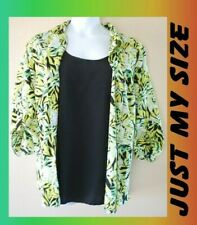 WOMEN'S PLUS SIZE 4X 26W 28W LAYERED JUST MY SIZE BLOUSE CLOTHING