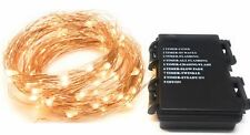 100 LED Fairy Lights Warm White String -  USB Copper Cable 10M MSC UK