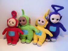 Vintage BBC TV Teletubbies Sleepy Eyes Plush Complete Soft Toy Doll Set 1990s