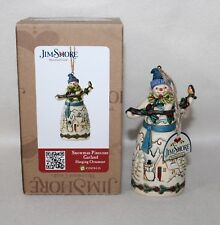 "New Dept 56 Jim Shore ""SNOWMAN PINECONE GARLAND"" Hanging Ornament #4049797 IOB"