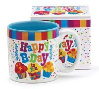 Festive Happy Birthday 13 Oz Coffee Mug with Cupcakes and Confetti Great Birt...