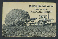 Feilmeier Haystack Moving tractor farming farm playing card single king - 1 card