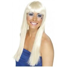 70s Disco Wig for Women Adult Blonde Dancing Queen Halloween Fancy Dress