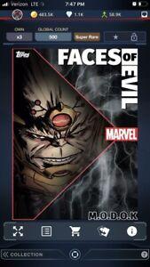 M.O.D.O.K. MODOK (Motion) Super Rare Faces of Evil Topps Marvel Collect