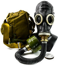 Soviet Russian USSR Military Gas mask GP-5 black hose respiratory surplus NEW