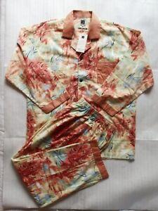 Vintage! No used! Kansai Yamamoto MAN Pajamas Set Shirt & Pant Men's Large A