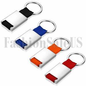 Womens Mens Stainless Steel Creative Key fob Keyring Keychain Key Chain Ring