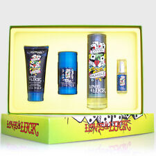 ED HARDY LOVE & LUCK ~ 3.4 oz Cologne Spray .25 Mini, 3.0 BW + 2.75 Deo Gift Set