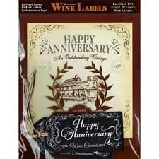 Mulberry Studios Personalised Wine Label Happy Anniversary - NEW - WL049