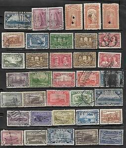 36 mix Ontario, Quebec Revenue 1870 10¢, 30¢ #OL47  Law stamps, Sc#176 50c Evang