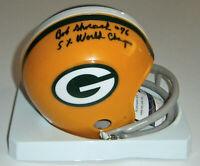PACKERS Bob Skoronski signed mini helmet w/ 5X Champs JSA COA AUTO Autographed