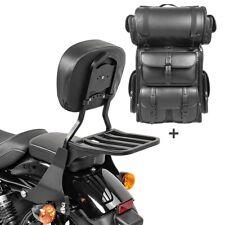 Sissybar sb1 + bolsa popa para LX Harley sportster 883 Custom 04-10 negro