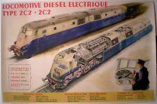 BRENET & BOUVRY – 2 AFFICHES ORIGINALES – LOCOMOTIVE DIESEL ET ELECTRIQUE - 1948