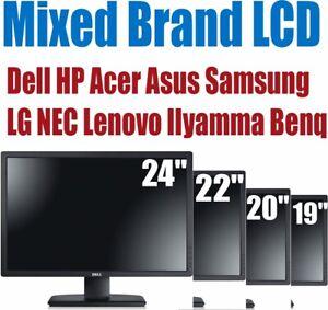 "Cheap 17"" 19"" 20"" 22"" 24"" TFT PC Computer Monitor VGA DVI Flat Screen Dell HP B"