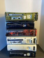 Lot of 6 XBOX 360s and 4 Hard Drives For Parts Or Repair Consoles Only Lot #1
