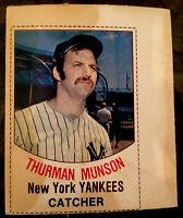 1977 HOSTESS SUZY-Q TWINKIES FULL UNCUT THURMAN MUNSON CARD