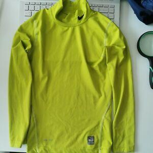 Nike Pro Combat Dri-Fit Compression, Small, S 8-10 Yrs, Yellow/Green