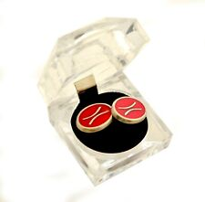 Retro Zodiac signs PISCES CUFFLINKS red silver plated magnificent mouchoir