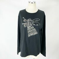 Chico's 2 Large NWT Top Holiday Angel SOLD OUT Black Blouse Stretch