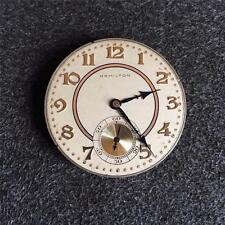 VINTAGE 12 SIZE GRADE 916 HAMILTON OPENFACE POCKETWATCH MOVEMENT
