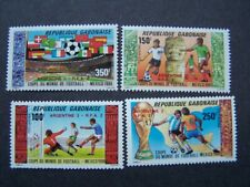 Gabon 1986  Football World Cup - Mexico  1986 MNH Mi. 955/58