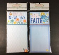 Crownjewlz Sweet Life Magnetic Note Pads Have Faith Beautiful New Day Angel Blue