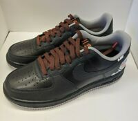 Nike Air Force 1 Low Detroit Away Mens Shoes Size 7.5 CD7789-001 Black Gray NEW