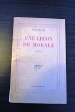Une leçon de morale - Paul Eluard