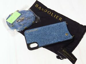 New with Tags Bandolier Blue Denim iPhone X/XS Case Cross Body Credit Card Case