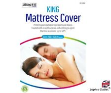 KING MATTRESS COVER Fitted Mattress Protector Double Size Bed 200cm x 150cm UK