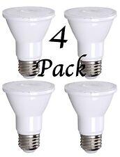 4 Pack Bioluz LED Dimmable PAR20 75 Watt (uses 7 Watts) 550 Lumen 3000K UL