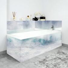 Bath Panels Printed on Acrylic - White Waves
