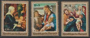 Burundi 1970 #B46-48 Christmas - MLH