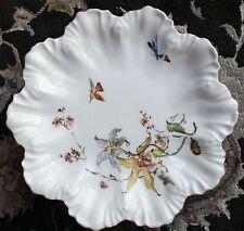 Antique French Limoges A Lanternier Hand Decorated Bone China Plate Circa 1890s