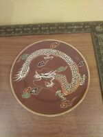 "Vintage DRAGONWARE Japan Cinnamon Moriage DRAGON 7.25"" Plate"