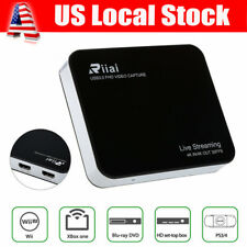 Riiai 4K HD Video Capture Live Game Streaming Box Wifi HDMI USB 3.0 Fr OBS PS3/4
