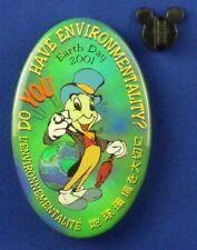 Jiminy Cricket Sketch Earth Day Environmentality 2001 Disney BUTTON # 13593
