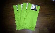 4 FIESTA napkin FRINGE DETAIL lemongrass NEW 100% Cotton