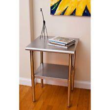 """Trinity EcoStorage Stainless Steel Table - 24"""" x 24"""" x 35 - Nsf"""