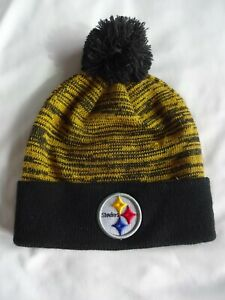NEW Pittsburg Steelers Authentic NFL Black Cuffed Knit Cap, with tags