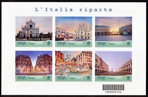"""2021 Serie Turistica """"L'Italia riparte""""- foglietto a TIRATURA LIMITATA 45.000!!!"""