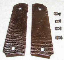 WWII COLT 1911 A1 .45 Auto Keyes Star Bakelite Grips / Bushings & Screws Set