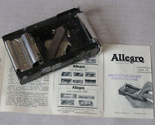 ANTIQUE SWISS METAL RAZOR BLADE SHARPENER ALLEGRO / MODEL STANDARD / FUNCTIONAL