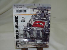 WWII Micro Armour GHQ War Games 1/285 Scale UK-100 M4A2 75mm Sherman w/ Shield