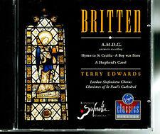 MFD IN W GERMANY NM CD 1988 BENJAMIN BRITTEN : TERRY EDWARDS : LONDON S CHORUS