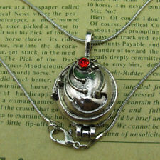 Vampire Diaries Elena's Silver Vervain Pendant Locket Necklace