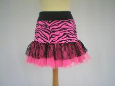 Women's 80's Madonna Neon Tutu Skirt Hen Fancy Dress Costume Cerise & Green